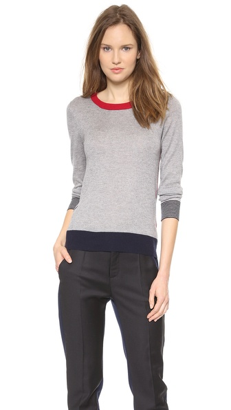 Band of Outsiders Silk Cashmere Crew Neck Sweater
