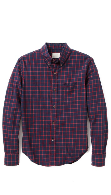 Band of Outsiders Twill Windowpane Shirt