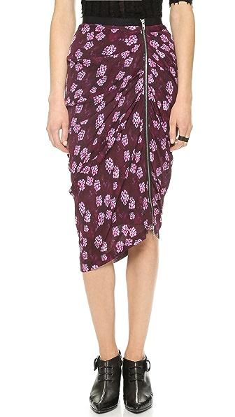 Band of Outsiders Cherry Blossom Draped Skirt