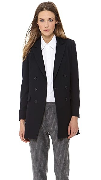 Band of Outsiders DB Notch Lapel Long Blazer