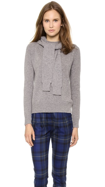 Band of Outsiders Crew Neck Hoodie with Sleeve Ties