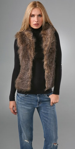 BB Dakota Potter Faux Fur Vest