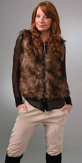 BB Dakota Ashland Faux Fur Vest