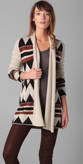 BB Dakota Asher Intarsia Cardigan Sweater