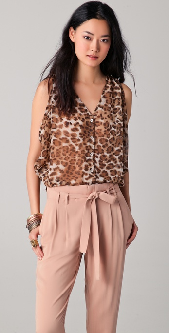 BB Dakota Savage Leopard Printed Tank