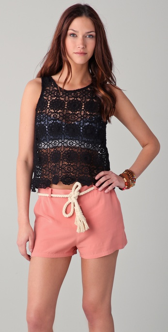 BB Dakota Lundy Scalloped Lace Tank