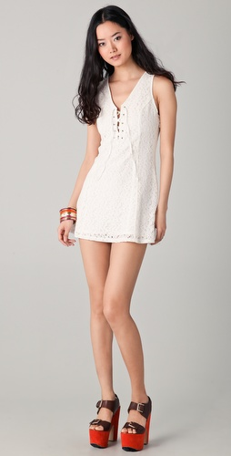 BB Dakota Benita Lace Up Dress