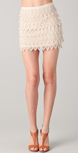BB Dakota Macyn Lace Tiered Skirt