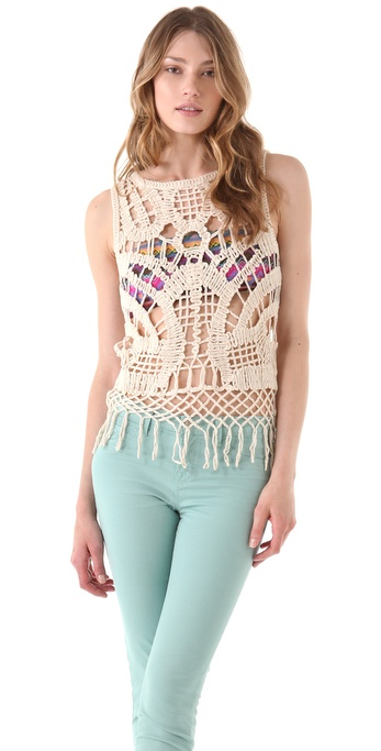 BB Dakota Roa Crochet Tank