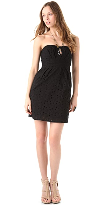 BB Dakota Ledell Eyelet Strapless Dress