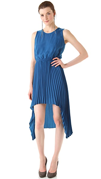 BB Dakota June Hi Low Pleated Dress