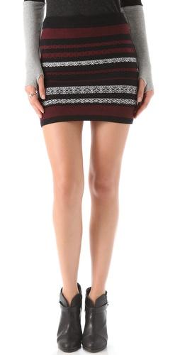 BB Dakota Tailyn Patterned Miniskirt