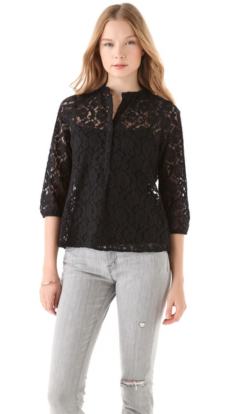 BB Dakota Stiles Lace Button Top