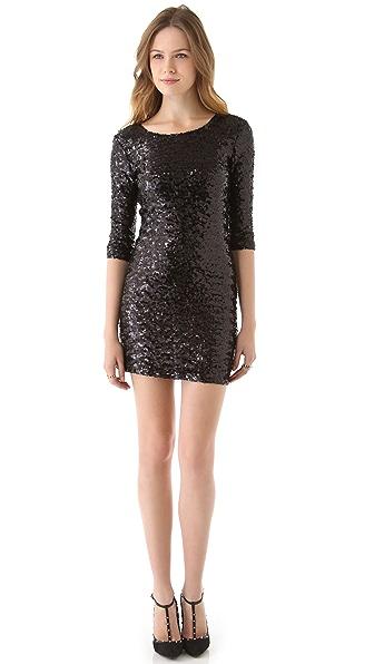 BB Dakota Neva Sequin Fitted Dress