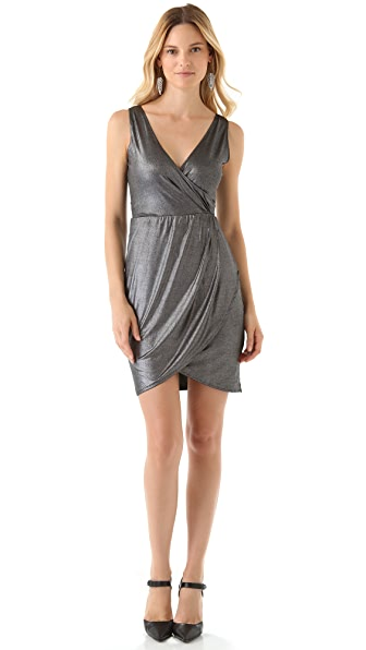 BB Dakota Davion Metallic Jersey Dress