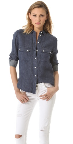 BB Dakota Natania Linen Shrunken Shirt