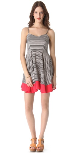 BB Dakota Nash Stripe Dot Sleeveless Dress