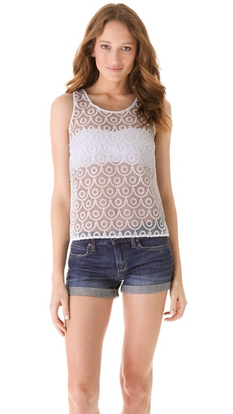 BB Dakota Anemone Embroidered Top