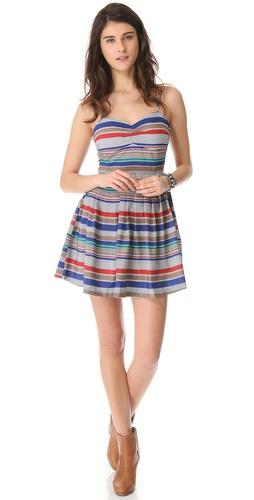 BB Dakota Bria Retro Stripe Dress