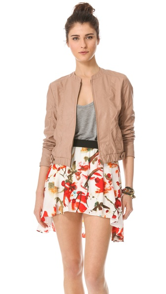 BB Dakota Lenon Faux Leather Bomber Jacket