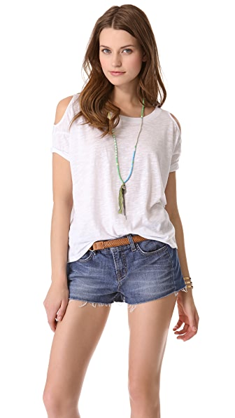 BB Dakota Marat Cutout Shoulder Tee