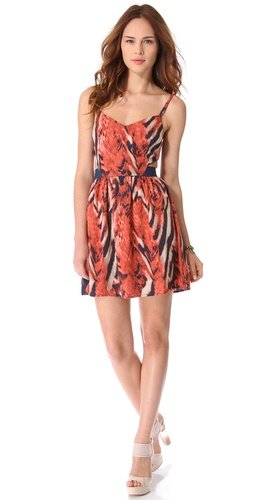 BB Dakota Maynard Bengal Print Dress