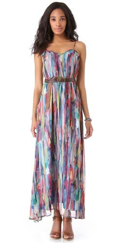 BB Dakota Bayberry Cascade Print Maxi Dress