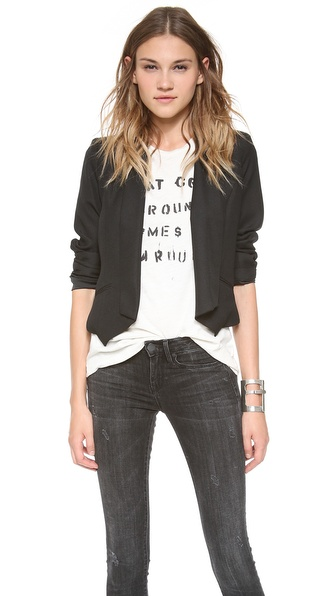 BB Dakota Carrie Crepe Blazer