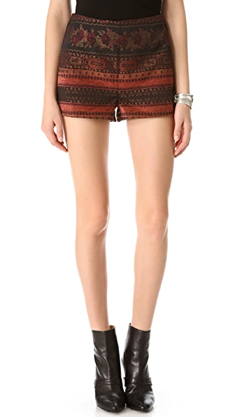BB Dakota Ester High Waisted Jacquard Shorts