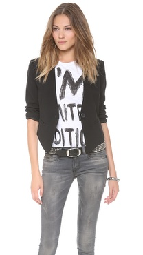 BB Dakota Cory Cropped Back Blazer