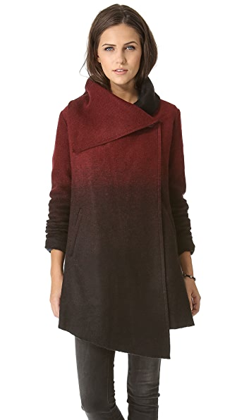 BB Dakota Amber Ombre Melton Coat