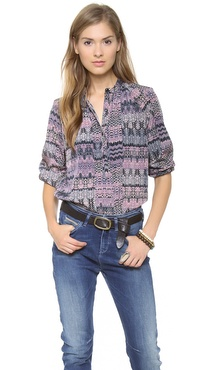 BB Dakota Fay Patchwork Top