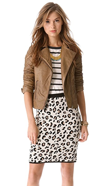 BB Dakota Johs Faux Leather Moto Jacket