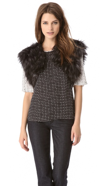 BB Dakota Faux Fur Shrug