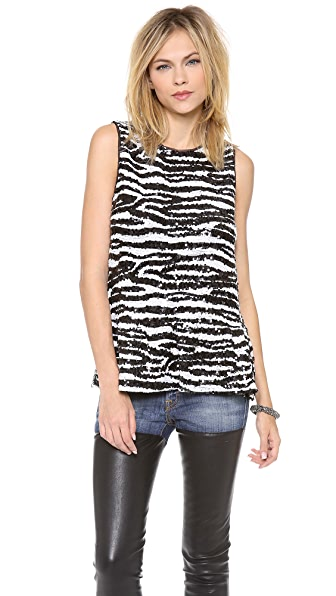 BB Dakota Zebra Pattern Tank