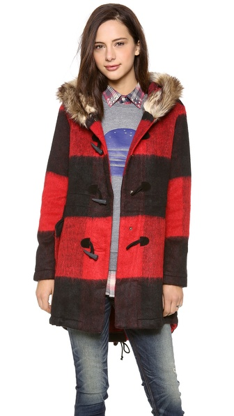 BB Dakota Buffalo Plaid Coat