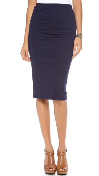 Bb Dakota Yvette Pencil Skirt - Navy