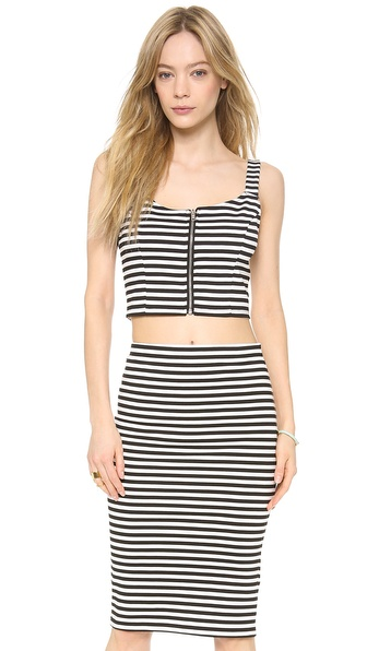 BB Dakota Lilia Striped Crop Top
