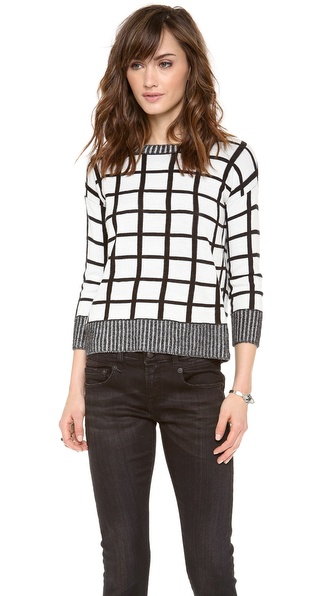 BB Dakota Dakota Collective Roxana Window Pane Sweater