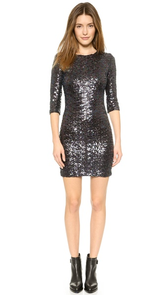 Shop BB Dakota online and buy Bb Dakota Villette Sequin Dress Oil Slick online