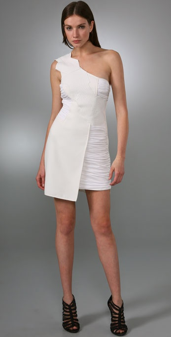 BCBGMAXAZRIA BCBGMAXAZRIA Runway One Shoulder Dress