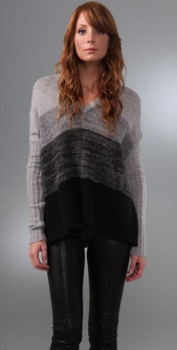 BCBGMAXAZRIA Oversized Striped Sweater