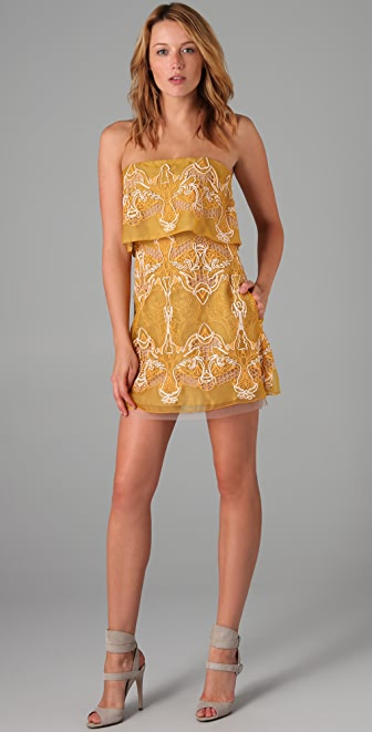 BCBGMAXAZRIA Samantha Tiered Dress
