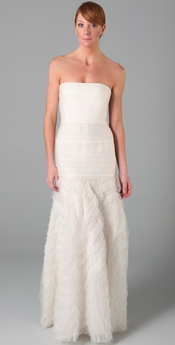 BCBGMAXAZRIA Marisa Layered Bridal Gown