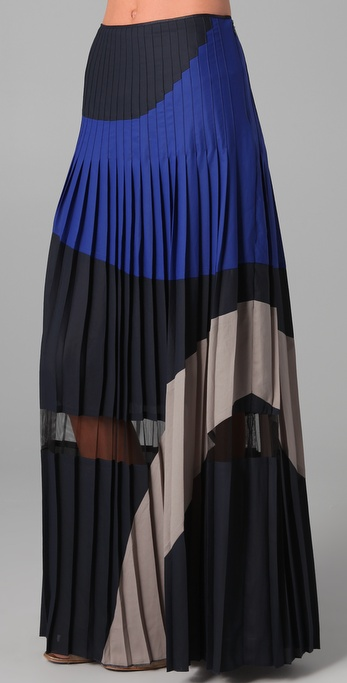 BCBGMAXAZRIA The Nouveau Pleated Skirt