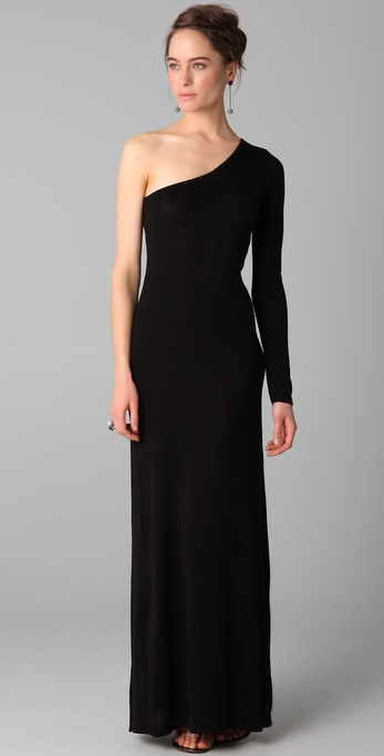 BCBGMAXAZRIA Anadia One Shoulder Gown
