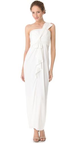 BCBGMAXAZRIA Barbara One Shoulder Gown