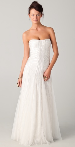 BCBGMAXAZRIA Magnolia Strapless Gown