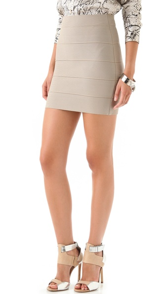 Bcbgmaxazria Simone Knit Skirt - Khaki at Shopbop / East Dane