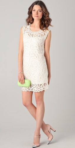 BCBGMAXAZRIA Beti Crochet Dress
